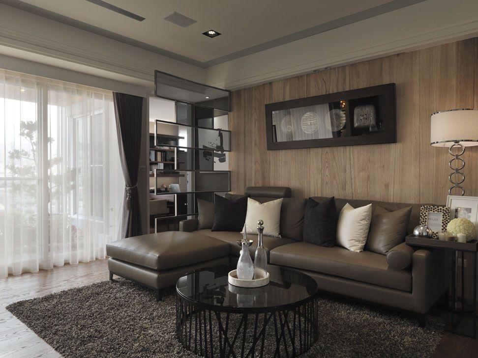 原木的沙发背景墙装修效果图