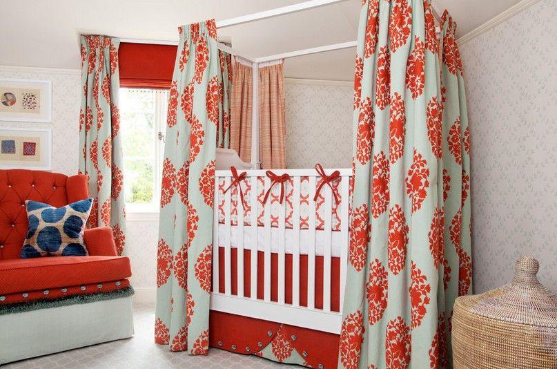 婴儿房窗帘效果图