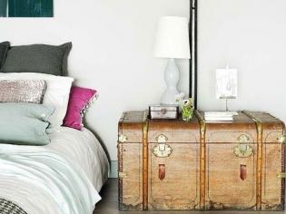 复古木箱床头柜设计