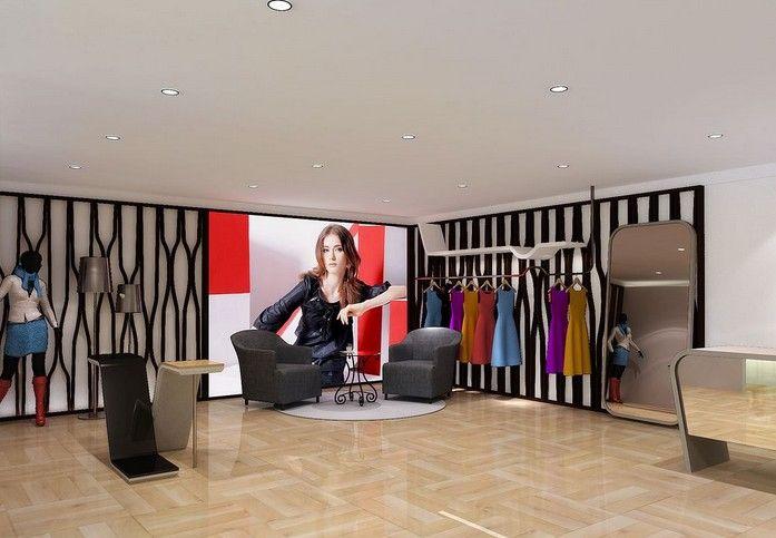 时尚女装店面设计装修效果图