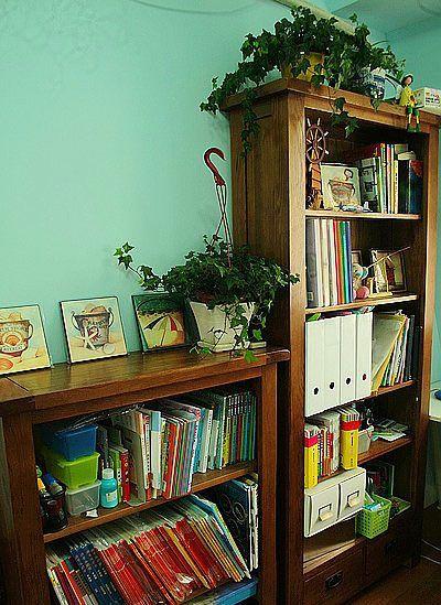 复古实木书柜