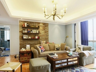 美式风格客厅