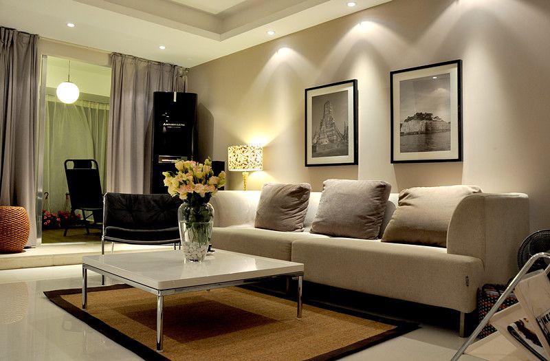 金属质感的客厅