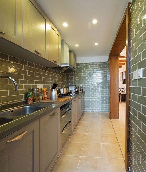 厨房红砖中岛装修效果图
