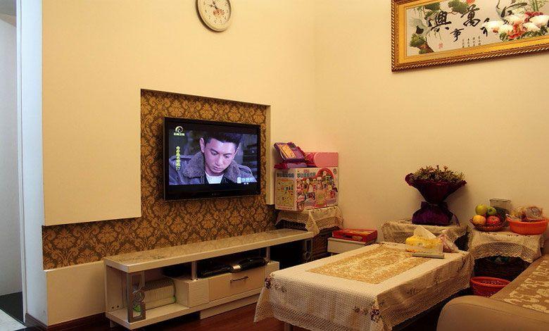 内嵌式电视背景墙