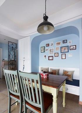 小户型地中海风格餐厅照片墙_餐厅里的照片墙