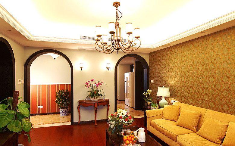 绿植装饰 客厅 装修效果图高清图片