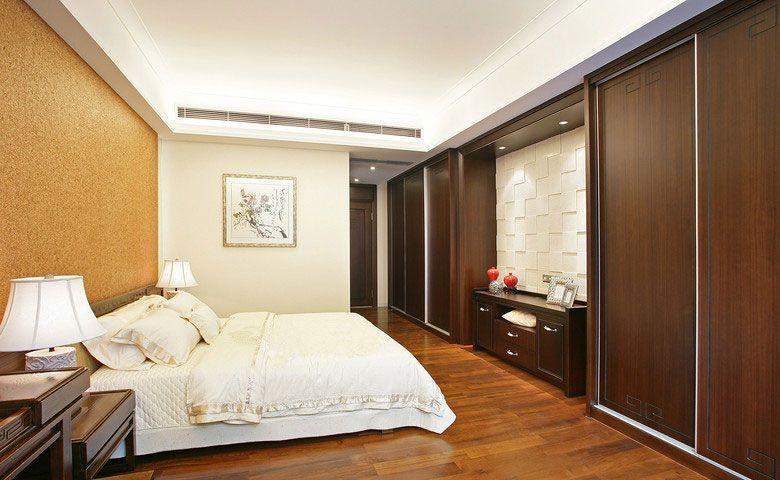 中式风格主卧室卧室背景墙_新中式主卧