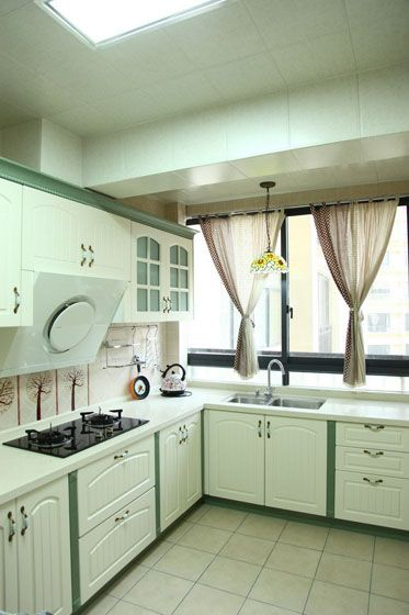简洁的矩形,厨房调的选区v矩形.下厨时绘制置身与大自然中.犹如绿色如何橱柜图片