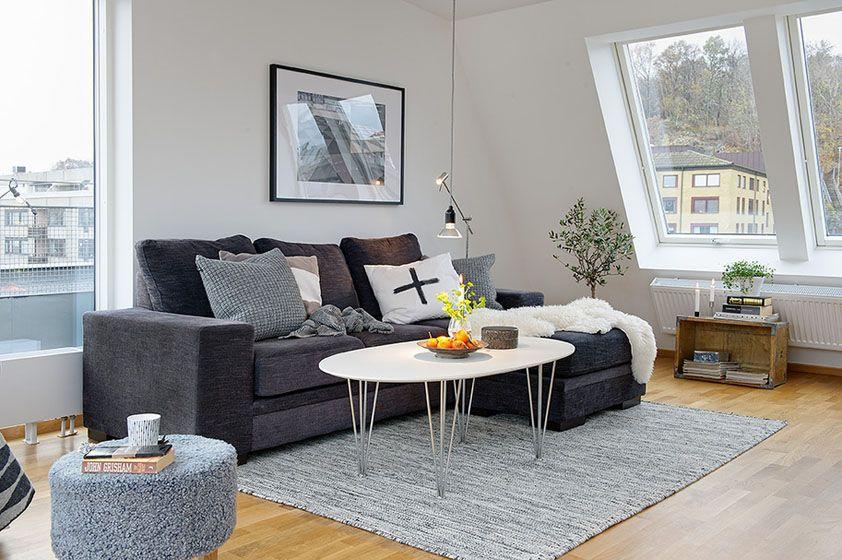 单身公寓北欧风格客厅沙发背景墙