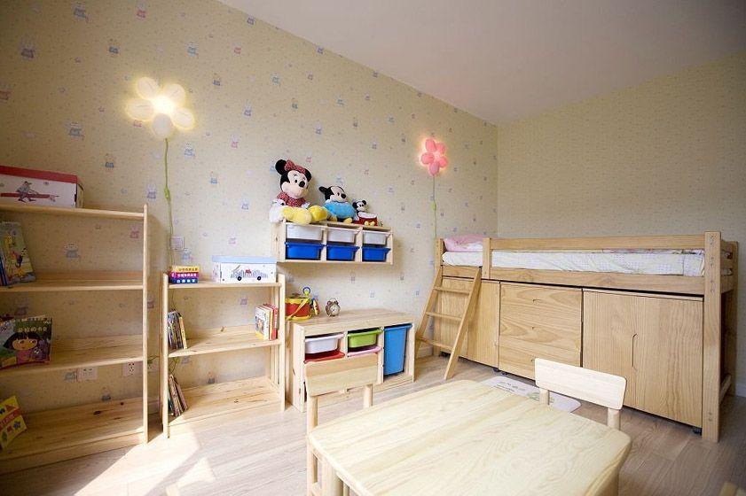 实用原木儿童床