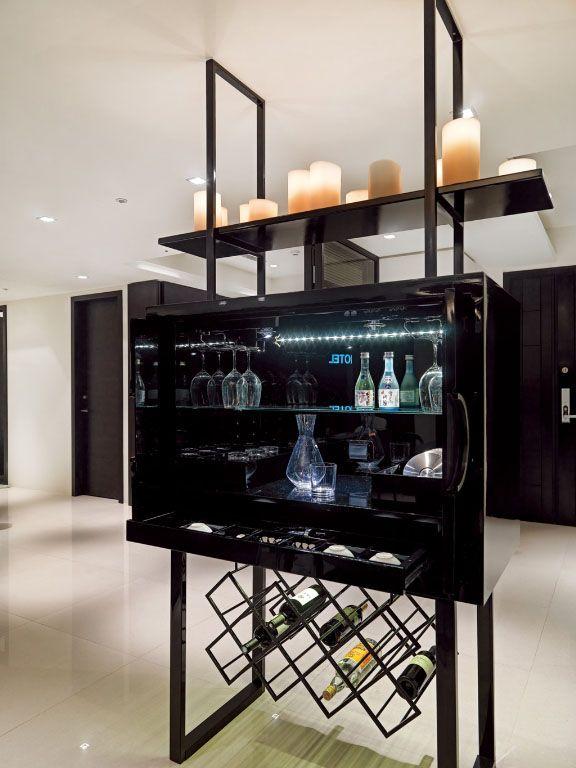简易 玻璃 酒柜 标签 酒柜 设计 理念 作为 玄关 与 ...