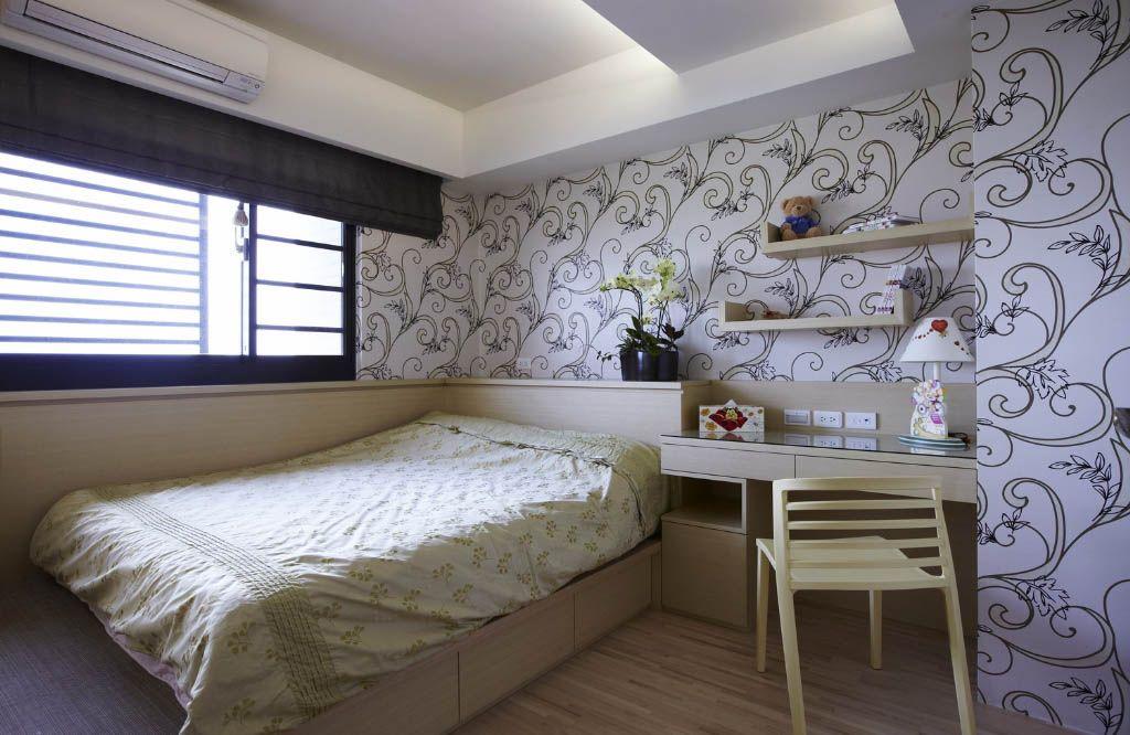 卧室装修效果图 泽瀚峰景-53平小户型现代美式卧室装修效果图 中式