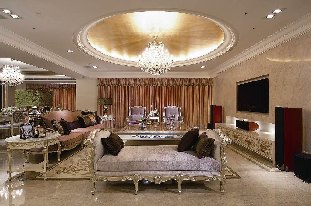 奢华彩绘客厅