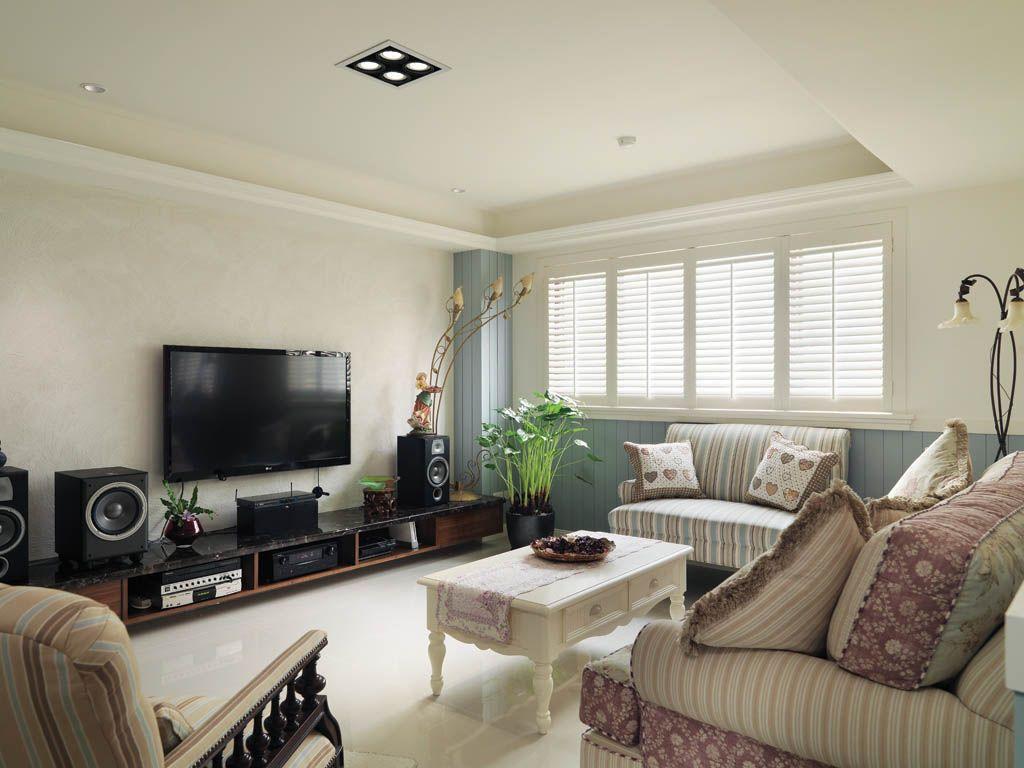 温馨的乡村客厅 装修效果图 X团装修网高清图片