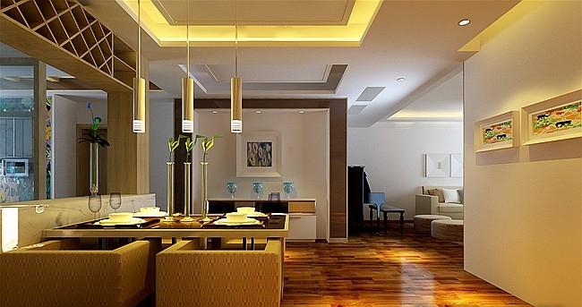 现代家装设计青岛蔚蓝群岛装修效果图-x团装修网