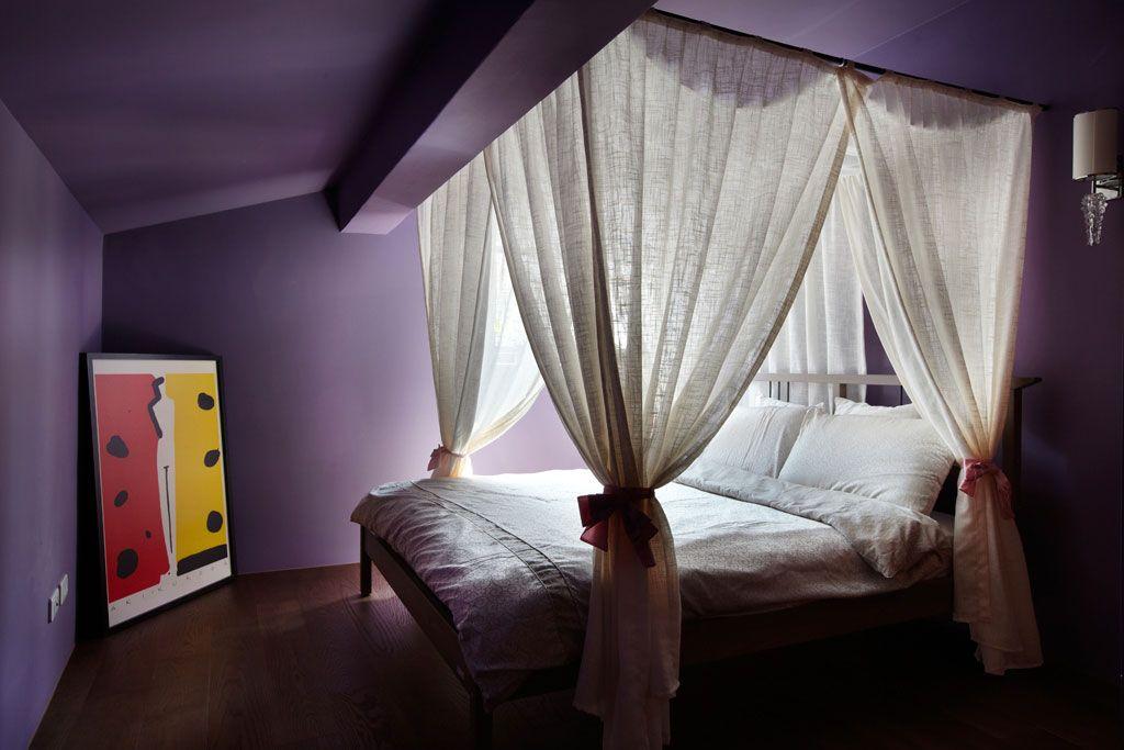 简单的紫色儿童房