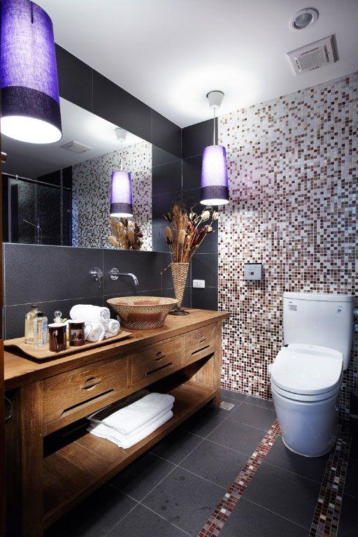古朴实木卫浴柜