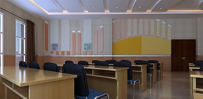 专业教室装修效果图-x团装修网图片