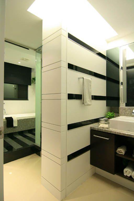 黑白风的卫浴