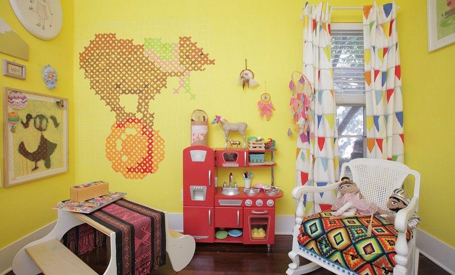 肯定也少不了可爱的儿童墙绘