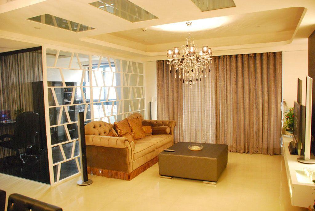 中式别墅客厅装修效果图  户型:单身公寓 房间:客厅             图
