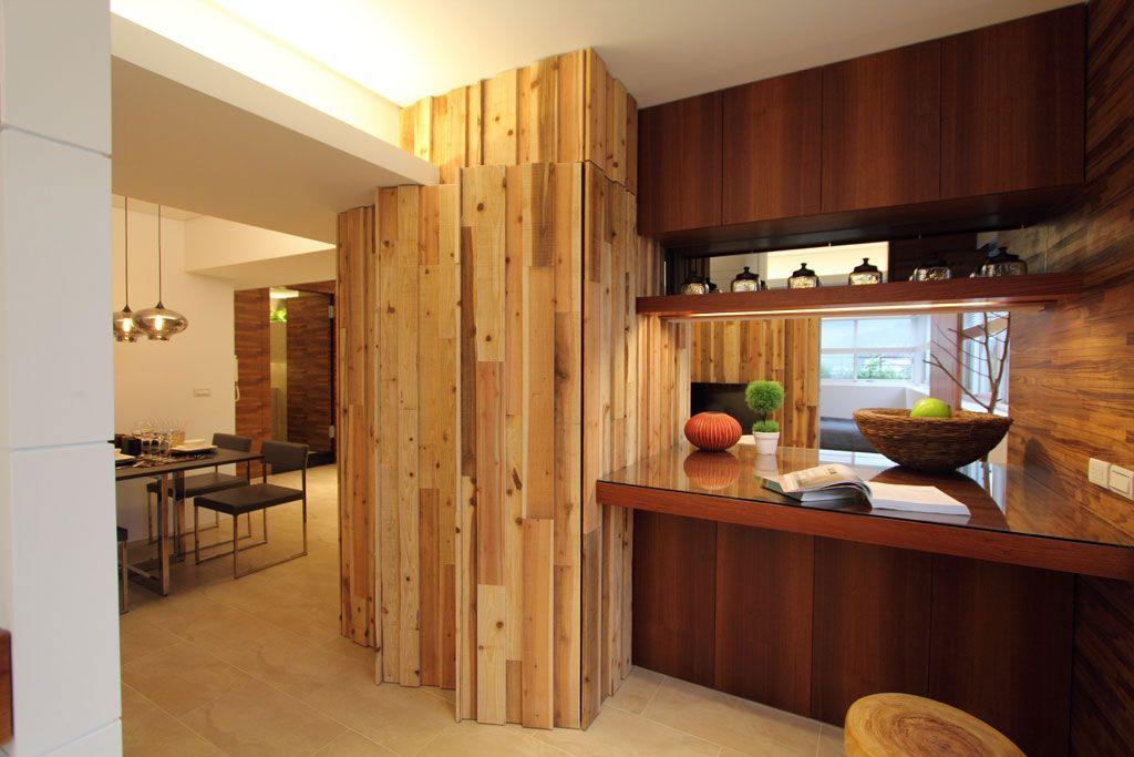 原木酒柜设计