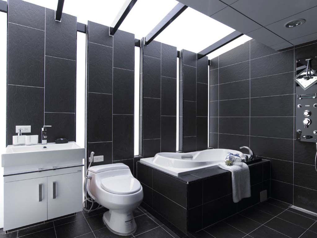 整体卫浴手绘线条图
