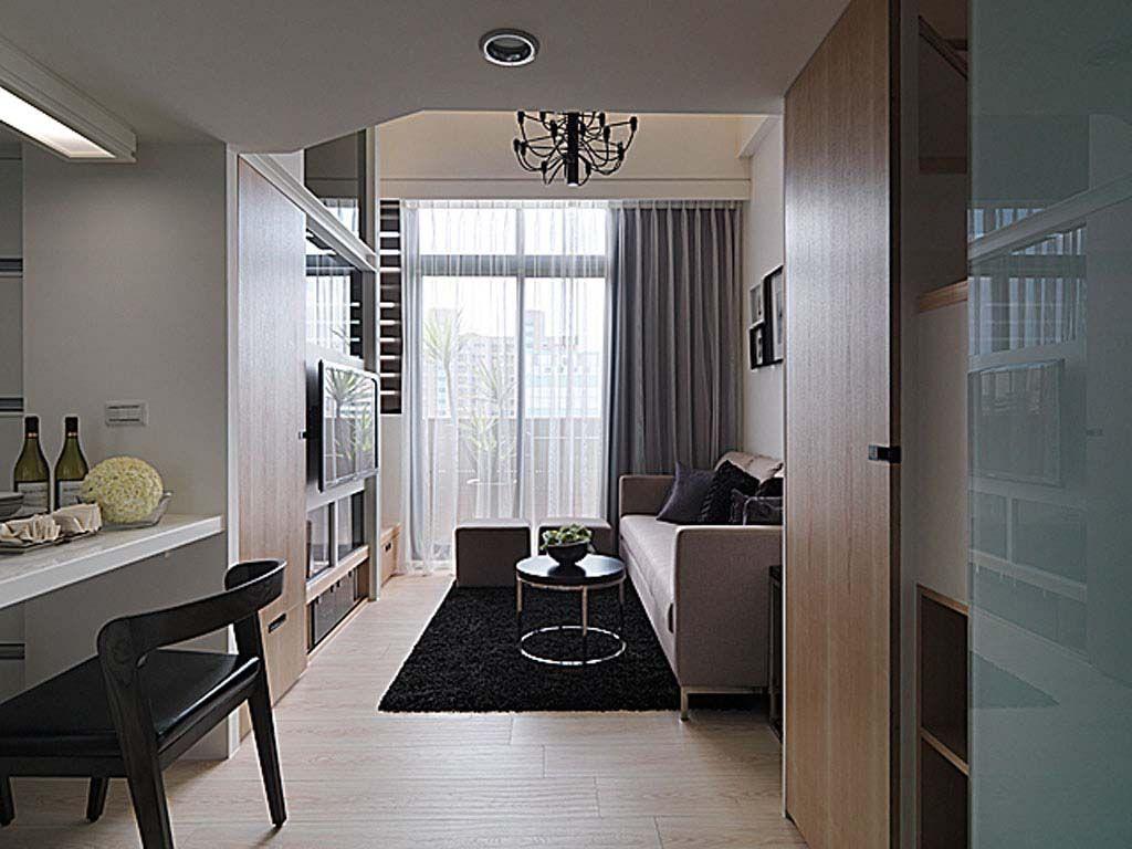 标签:过道小户型 设计理念:客厅保留了天花的高度,使小坪数空间不图片