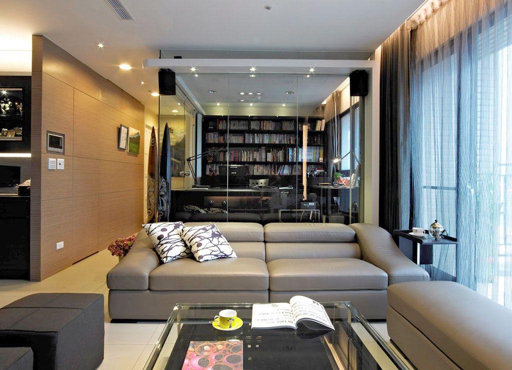 交换空间客厅隔断; 沙发玻璃墙隔断; 玻璃墙装修效果图图片大全_玻璃