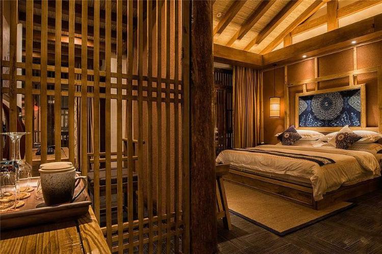 木结构客栈民宿客房装修效果图