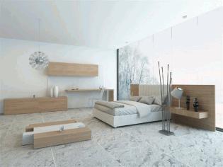 复古简洁卧室装修设计
