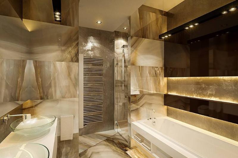 后现代室内家居卫生间效果图