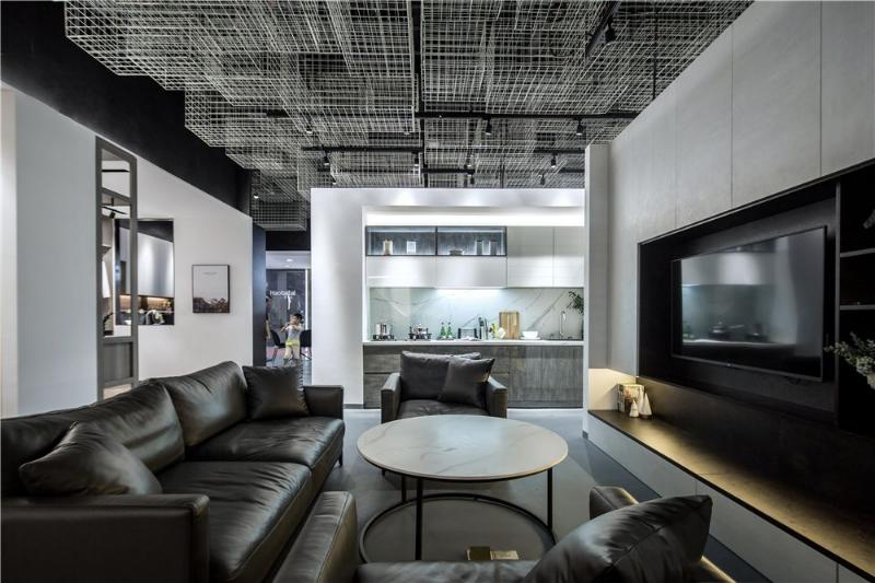 黑白都市风格会客厅