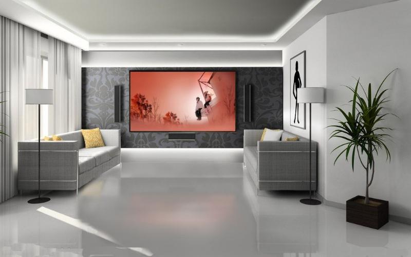 家庭影院影视墙效果图