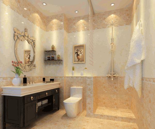 金碧辉煌卫生间淋浴房