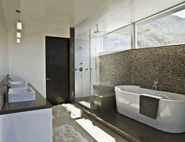 豪华卫生间 浴缸淋浴房