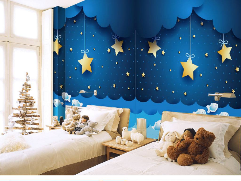 儿童房星空背景墙